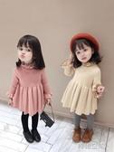 女童2019秋冬季新款韓版中小童寶寶洋氣短款針織洋裝裙裙子 韓語空間