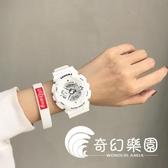 手錶  電子手表女中學生韓版簡約潮流 防水休閑大氣男運動  奇幻樂園
