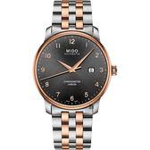MIDO美度 Baroncelli 永恆系列天文台認證機械錶-灰x雙色版/42mm M0376082206200