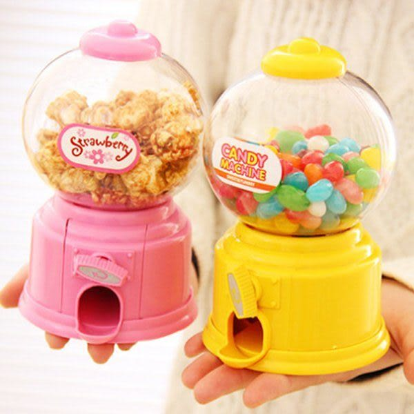 Qmishop 韓國新款療癒 迷你糖果扭蛋機玩具 / 存錢筒 存錢罐 扭蛋玩具 糖果 【J900】