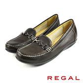 【REGAL】時尚扣飾女鞋 咖啡(F19H-DN)
