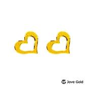 JoveGold漾金飾 引領真心黃金耳環