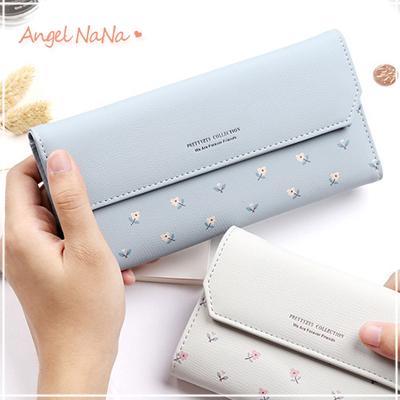 長夾-可愛小碎花朵清新女皮夾手拿包 AngelNaNa (SMA0265)