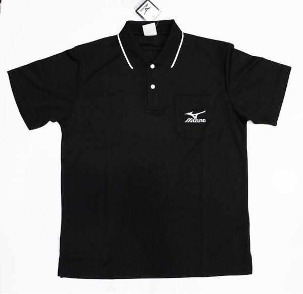 [陽光樂活]MIZUNO 美津濃 男 短袖POLO衫 經典黑白 32TA602309