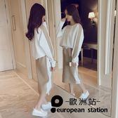 套裝/女裝上衣配裙子衣服女兩件「歐洲站」