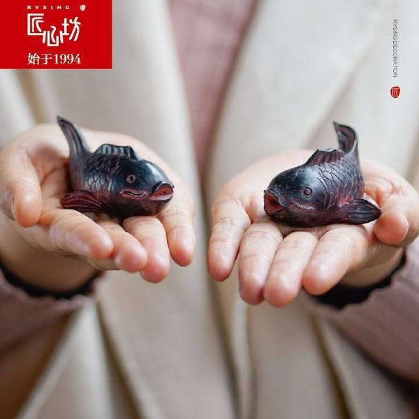 魚缸擺件創意微景觀小鯉魚盆景仿真小動物魚缸造景裝飾【步行者戶外生活館】