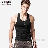 男士工字背心棉質青年透氣運動健身緊身修身型打底汗夏季健美 M-3XL 8色