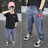 男童牛仔褲 褲子夏季薄款兒童防蚊褲2021新款夏裝休閒運動長褲童裝牛仔褲【快速出貨】