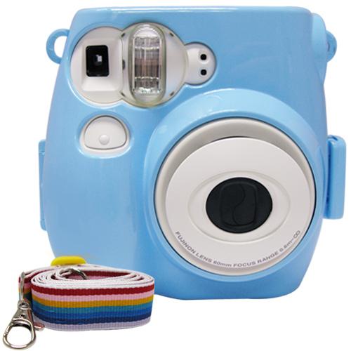For FUJIFILM mini 7s 拍立得專用 水晶殼 保護殼 藍色