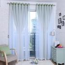 窗紗 韓式簡約現代蕾絲飄窗簾客廳臥室全遮光布成品定制 【全館免運】