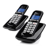 Motorola 大字鍵DECT無線雙機S3002-黑【愛買】