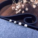 簡約銀珠豆豆 4mm  925純銀耳環 ...