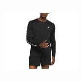 Asics [2011A818-001] 男 長袖 上衣 T恤 海外版型 吸濕 排汗 透氣 反光 運動 訓練 亞瑟士 黑