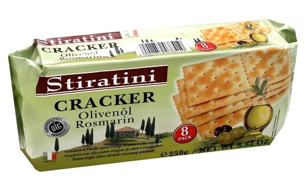 義大利【STIRATINI】橄欖油迷迭香蘇打餅 250g 無氫化植物油 無人工色素、香料及防腐劑