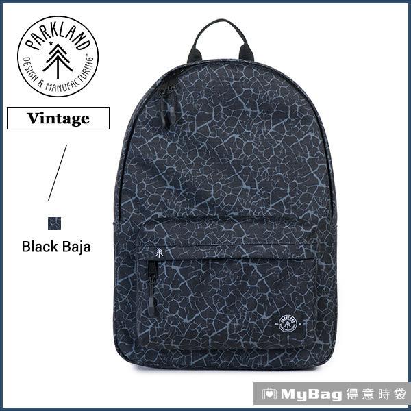 Parkland 後背包  黑灰色 電腦後背包 簡約休閒背包 Vintage-064 MyBag得意時袋