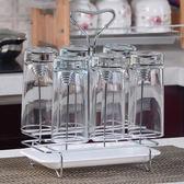 玻璃杯架水杯掛架茶杯架收納架瀝水杯架創意水杯架子放杯子置物架 mks小宅女