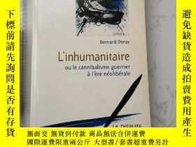 二手書博民逛書店罕見L inhmanitaireY385290 Bernard Doray La Dispute ISBN:9