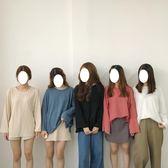 純色長袖T恤秋裝新款韓版百搭