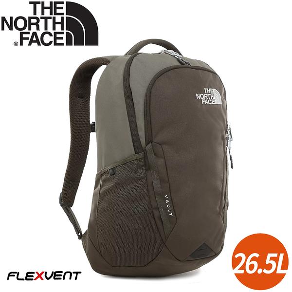 【The North Face 26.5L VAULT 後背包《綠》】3KV9/電腦包/書包/15吋筆電包/後背包