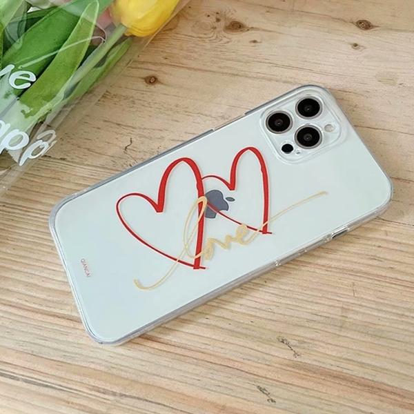蘋果 iPhone12 Pro Max iPhone11 XR XS Max SE iPhone8 手機殼 隨筆愛心 蘋果手機殼 全包邊 軟殼