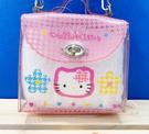 【震撼精品百貨】Hello Kitty_凱蒂貓~Sanrio HELLO KITTY防水斜背包-透明粉#98297