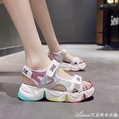 女童運動涼鞋新款時尚小公主鞋軟底兒童涼鞋夏季中大童小女孩 快速出貨