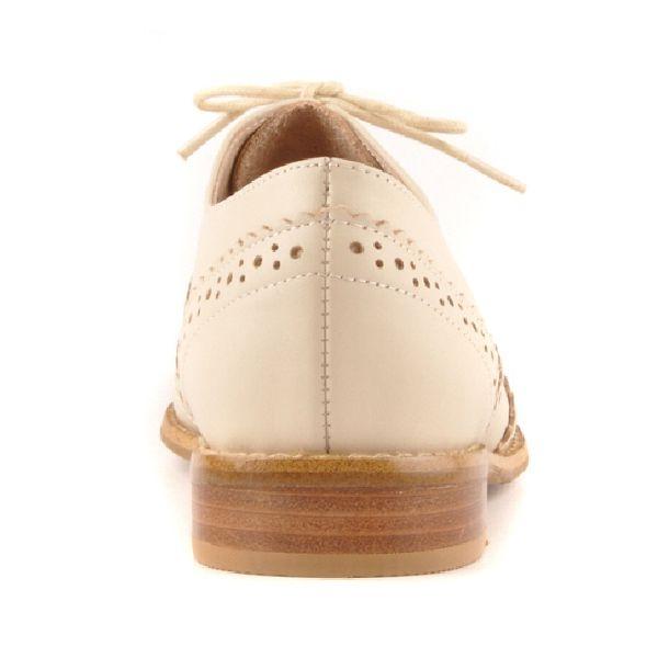 ALL BLACK 帥氣十足-造型紳士鞋-米白