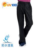 UV100 防曬 防水防風格紋機能褲-男