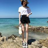 牛仔短褲女2021新款高腰熱褲顯高黑色白色夏季薄款寬鬆潮ins 【七七小鋪】