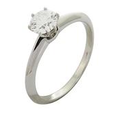 Tiffany & Co 蒂芬妮 Solitaire系列0.38ct 六爪單顆鑽石PT950柏金戒指【BRAND OFF】