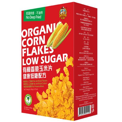 【米森 Vilson】 有機香脆玉米片-健康低糖配方(180g)