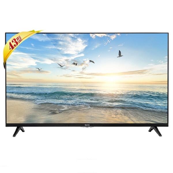 【Kolin 歌林】43型4K HDR聯網LED液晶顯示器+視訊盒(KLT-43EU06)