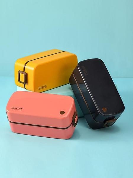 便當盒日本ASVE飯盒便當盒日式減脂雙層帶餐具微波爐健身餐盒套裝上班族快速出貨