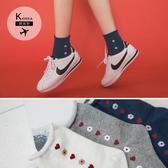 《ZB0585》韓國製愛心小花捲邊短襪  OrangeBear