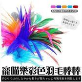 *WANG*寵喵樂《彩色羽毛逗貓棒》LWS-80517 /艷麗的顏色給人完美的視覺感受