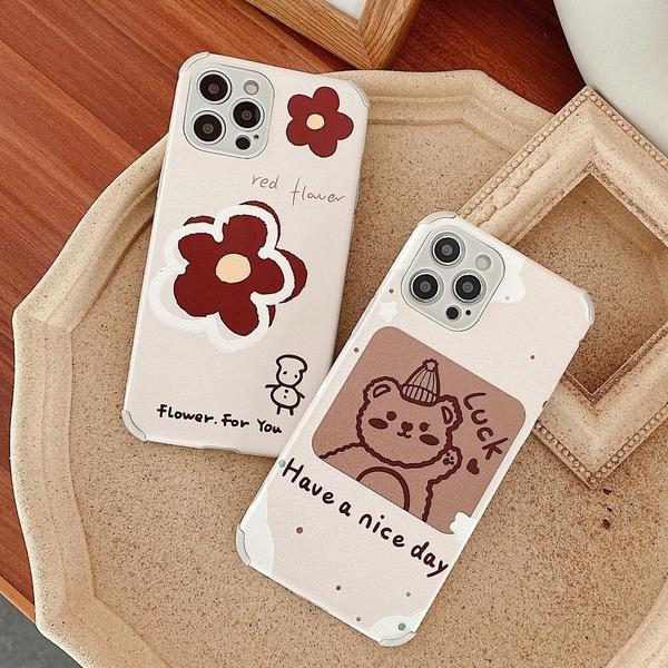 小紅花卡通小熊小米10T 9T 小米10 lite 紅米Note9T 紅米9T Note8 Pro Note7防摔手機殼