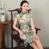 2018春夏季新款女士改良旗袍復古日常中國風