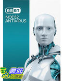 [7美國直購] 2018 amazon 亞馬遜暢銷軟體 ESET NOD32 Antivirus 2017 3 users 1 Year Windows PC s