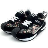 《7+1童鞋》中童 日本 IFME 輕量  機能  運動鞋  C431  黑色