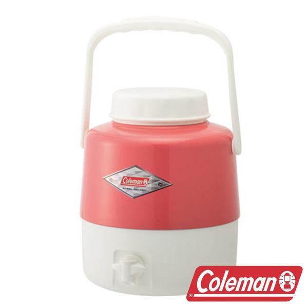 【美國Coleman】4.9L經典飲料桶/ 草莓紅 CM-27866M露營.登山.保冰桶.飲料筒.保冷壺.行動冰箱.收納