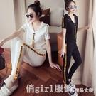 套裝 休閒運動套裝女夏2020新款韓版學生嘻哈洋氣網紅時尚兩件套歐貨潮 俏girl