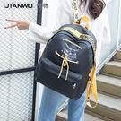 後背包牛津布帆布後背包女2018新款韓版尼龍潮時尚百搭學院風背包旅行潮