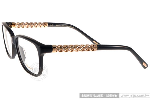 CHOPARD 光學眼鏡 CP181S 700Y (黑-金) 頂級精品奢華簡約款 平光鏡框 # 金橘眼鏡