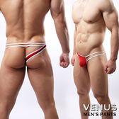 蘇菲24H購物 VENUS 網紗性感情趣 單邊褲 一字 丁字褲 紅