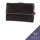 【橘子包包館】VOVA 貝拉系列 真皮 9卡相片零錢袋 扣式中夾 VA112W025BR 咖啡色