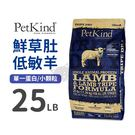 PetLand寵物樂園《PetKind 野胃》野胃-鮮草肚低敏羊/單一蛋白/無穀犬糧-小顆粒25磅