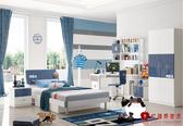[紅蘋果傢俱] 578 籃球小子 兒童家具 單人床 床架 兒童床組 4尺床 5尺床 衣櫃 書桌 (免組裝費)