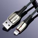 TOTU Lightning/iPhone充電線傳輸線編織線 LED 3A快充 璀璨系列 120cm