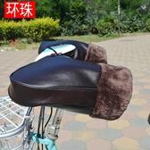 冬季電動車把套手套摩托車把套PU皮加厚防風防水防寒保暖護手男女 【快速出貨】