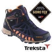 Treksta ADT MID 203 女 Gore-Tex 防水中筒登山鞋 (腳底透氣技術 / 快速綁帶系統) 深藍 高筒健行鞋 KR16KW